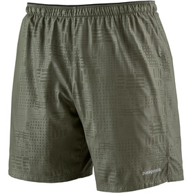 "Patagonia Strider Shorts 7"" Men southern soul emboss: industrial green"